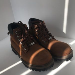 Skechers Brown Waterproof Boots Leather Size 9.5